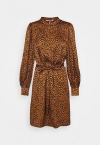 Scotch & Soda - PRINTED DRESS WITH WAIST TIE AND VOLUMINOUS SLEEVE - Denní šaty - combo - 0