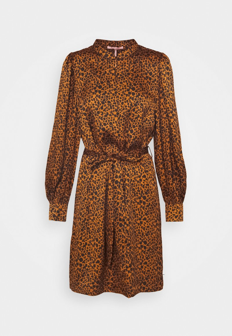 Scotch & Soda - PRINTED DRESS WITH WAIST TIE AND VOLUMINOUS SLEEVE - Denní šaty - combo