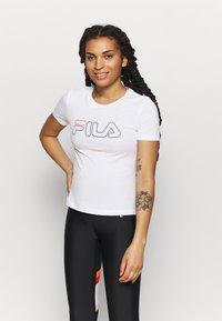 Fila - LADAN TEE - Print T-shirt - bright white - 0