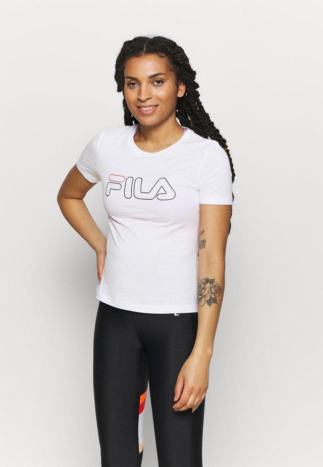LADAN TEE - T-shirt print - bright white