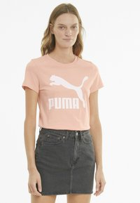 Puma - Print T-shirt - apricot blush - 0