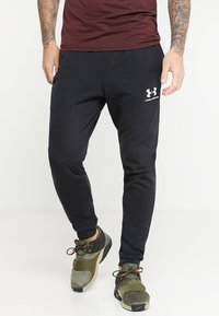 Under Armour - SPORTSTYLE - Träningsbyxor - black/onyx white - 0