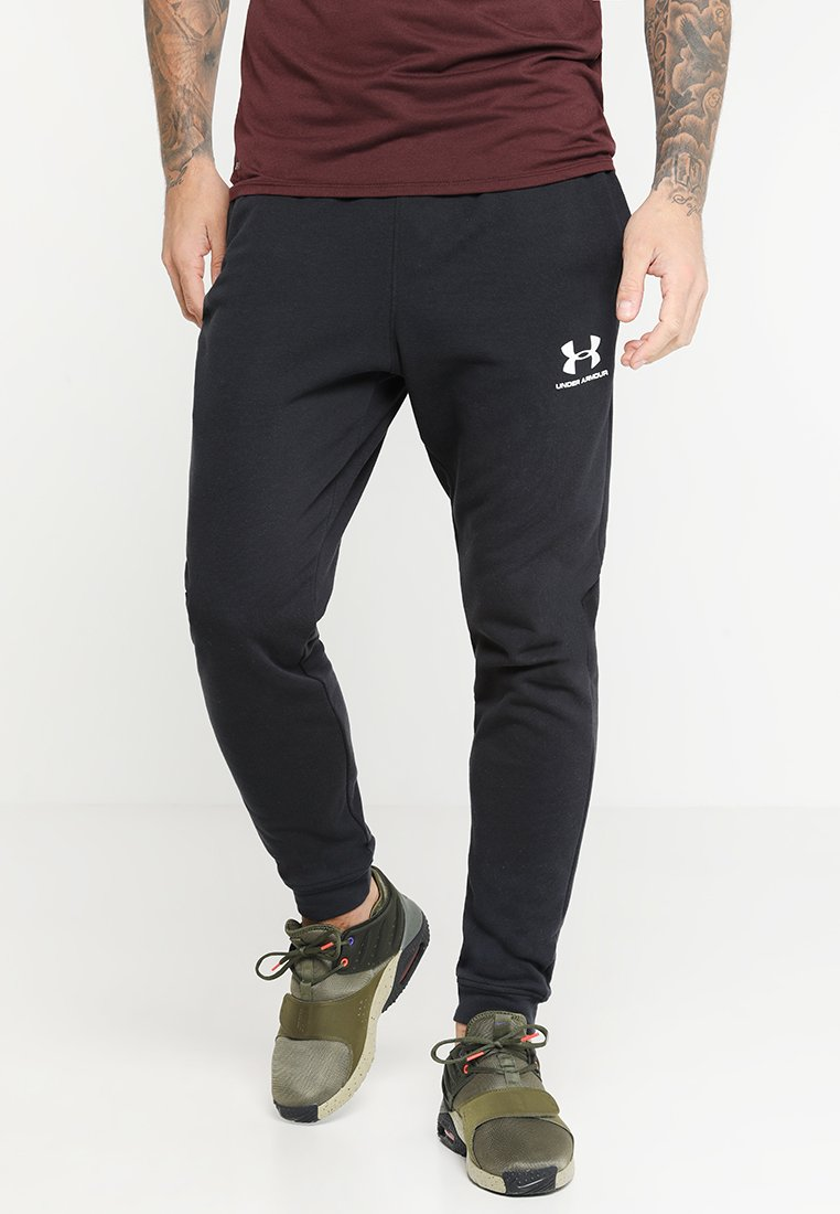 Under Armour - SPORTSTYLE - Träningsbyxor - black/onyx white
