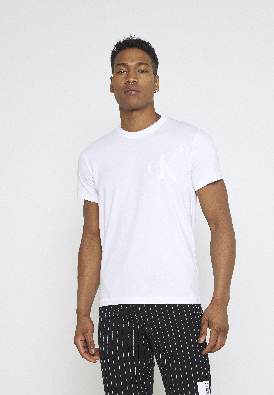 Men MATTE AND FLOCK MONOGRAM TEE UNISEX - Print T-shirt