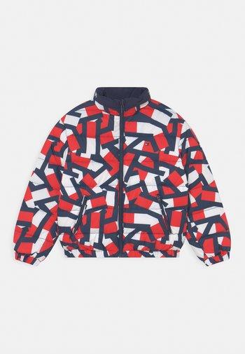 REVERSIBLE LIGHT UNISEX - Down jacket - red/twilight navy