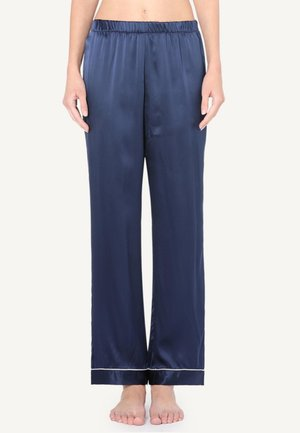 LANGE HOSE AUS SATIN UND SEIDE - Pyjama bottoms - mottled blue