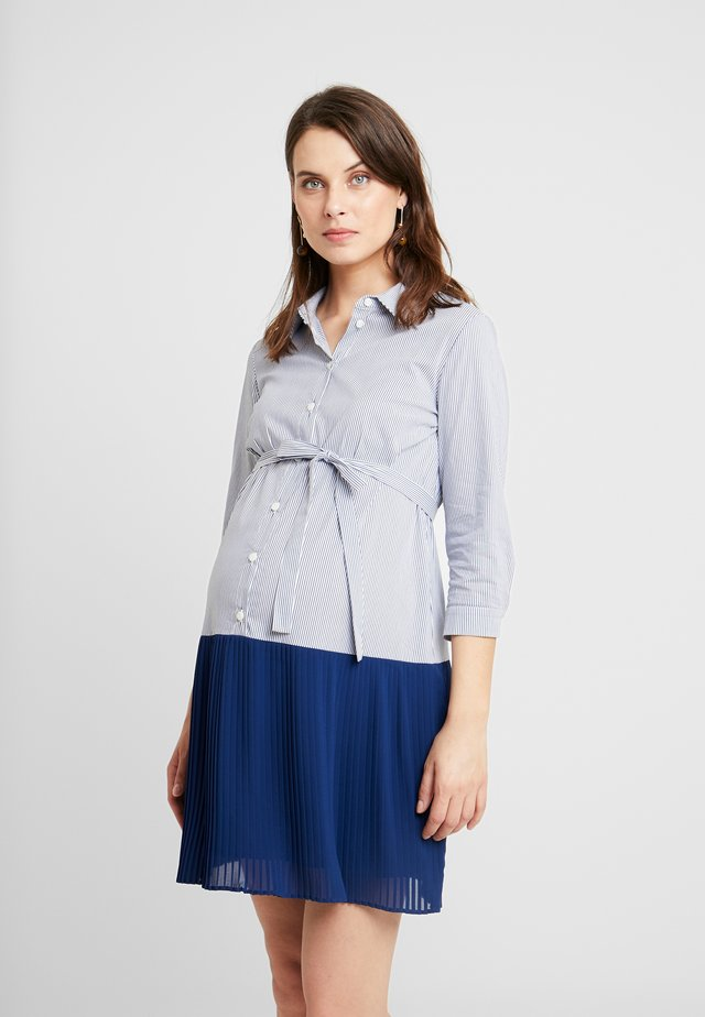 CAMICIA PLISSE - Shirt dress - navy