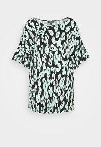 CAPSULE by Simply Be - RUFFLE SLEEVE - T-shirt print - black - 0