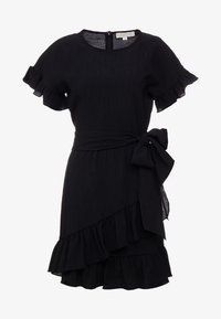 MICHAEL Michael Kors - RUFFLE WRAP DRESS - Vestito estivo - black - 4
