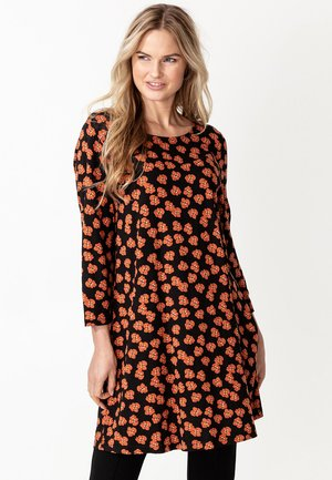 FLORINA - Jersey dress - rust