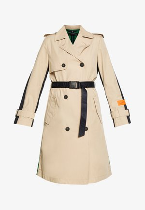 BLOGGER COLOUR MIX BELT WITH BUCKLE PLEAT - Trenchcoat - swedish pine