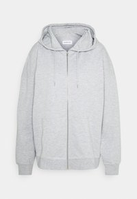 Even&Odd - REGULAR FIT ZIP UP HOODIE JACKET - veste en sweat zippée - mottled light grey