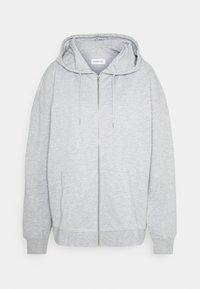 REGULAR FIT ZIP UP HOODIE JACKET - Sweatjakke - mottled light grey