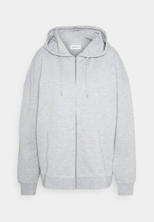 REGULAR FIT ZIP UP HOODIE JACKET - Hettejakke - mottled light grey