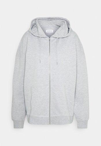 REGULAR FIT ZIP UP HOODIE JACKET - Sweatjakke /Træningstrøjer - mottled light grey