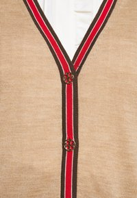 Tory Burch - COLOR BLOCK MADELINE CARDIGAN - Cardigan - classic camel/pine cone - 6