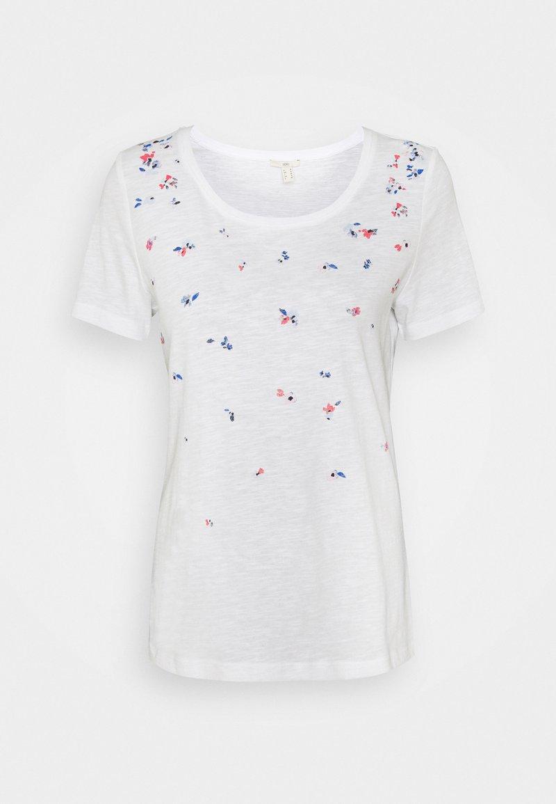 edc by Esprit - CORE - Print T-shirt - white