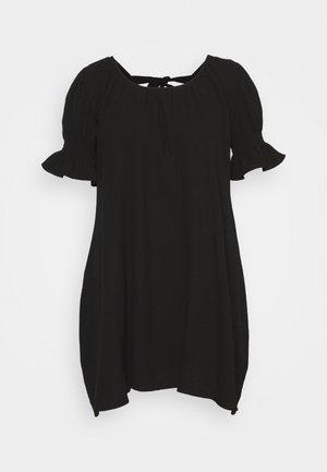 PLUS FRILL CUFF SWING DRESS - Vestito estivo - black