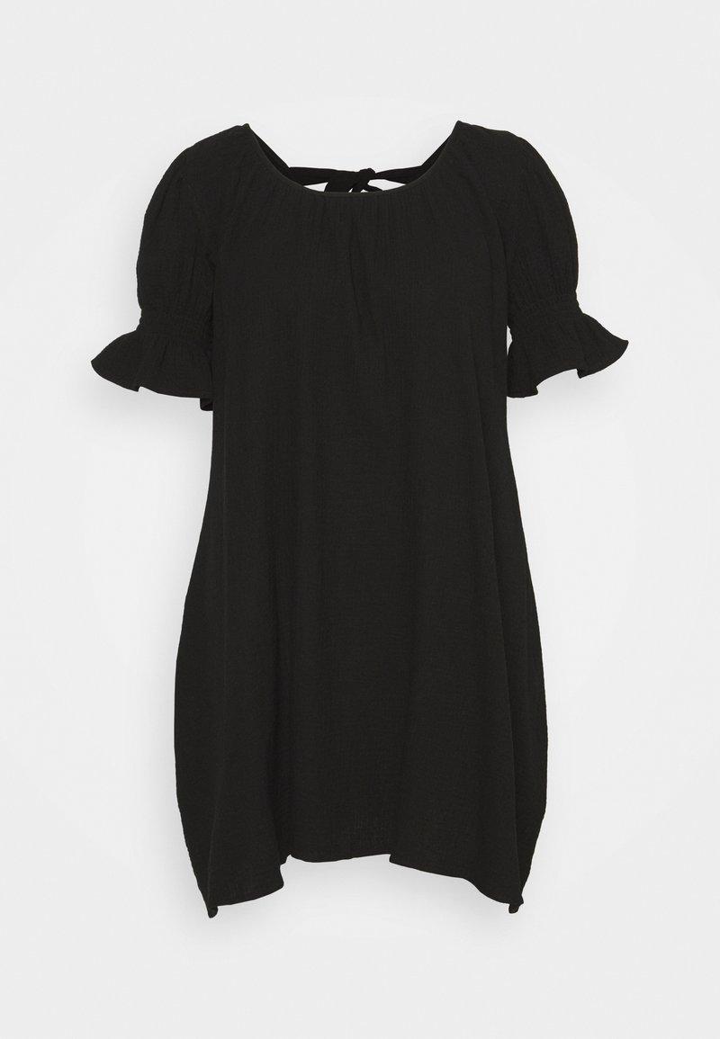 Missguided Plus - PLUS FRILL CUFF SWING DRESS - Robe d'été - black