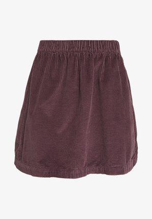 ELASTIC WAIST MINI SKIRT - Minifalda - mauve