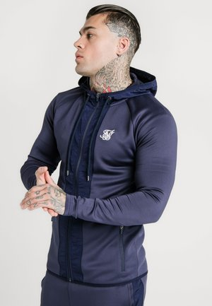 CREASED ZIP THROUGH HOODIE - Zip-up hoodie - navy