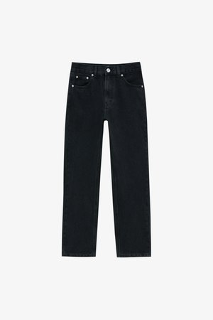 Relaxed fit jeans - mottled black