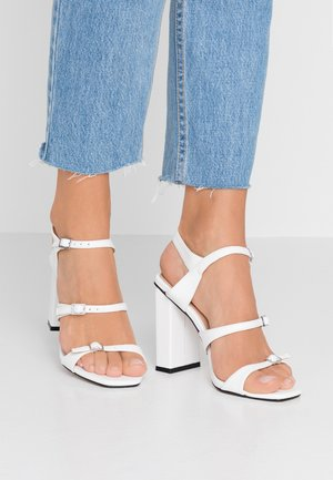 STRAPPY - High heeled sandals - white
