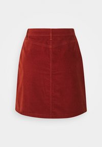 TOM TAILOR DENIM - SKIRT - Mini skirt - rust orange - 1