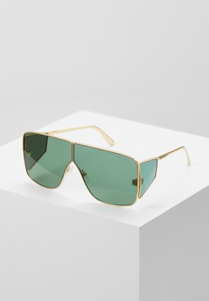 Sunglasses - green/gold