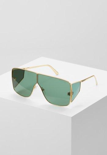 Sunglasses - green/gold