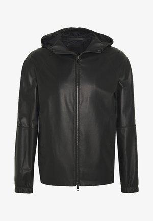 SANFORD - Veste en cuir - black