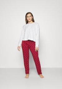 GAP - SUM TOWEL TERRY HENLEY - Pyjama top - heather varigated - 1