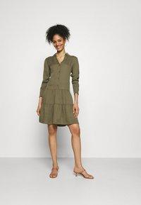 Esprit - DRESS - Day dress - khaki green - 1