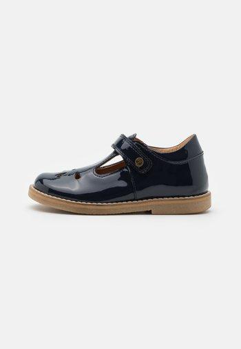 EVIA T-BAR - Ankle strap ballet pumps - blue