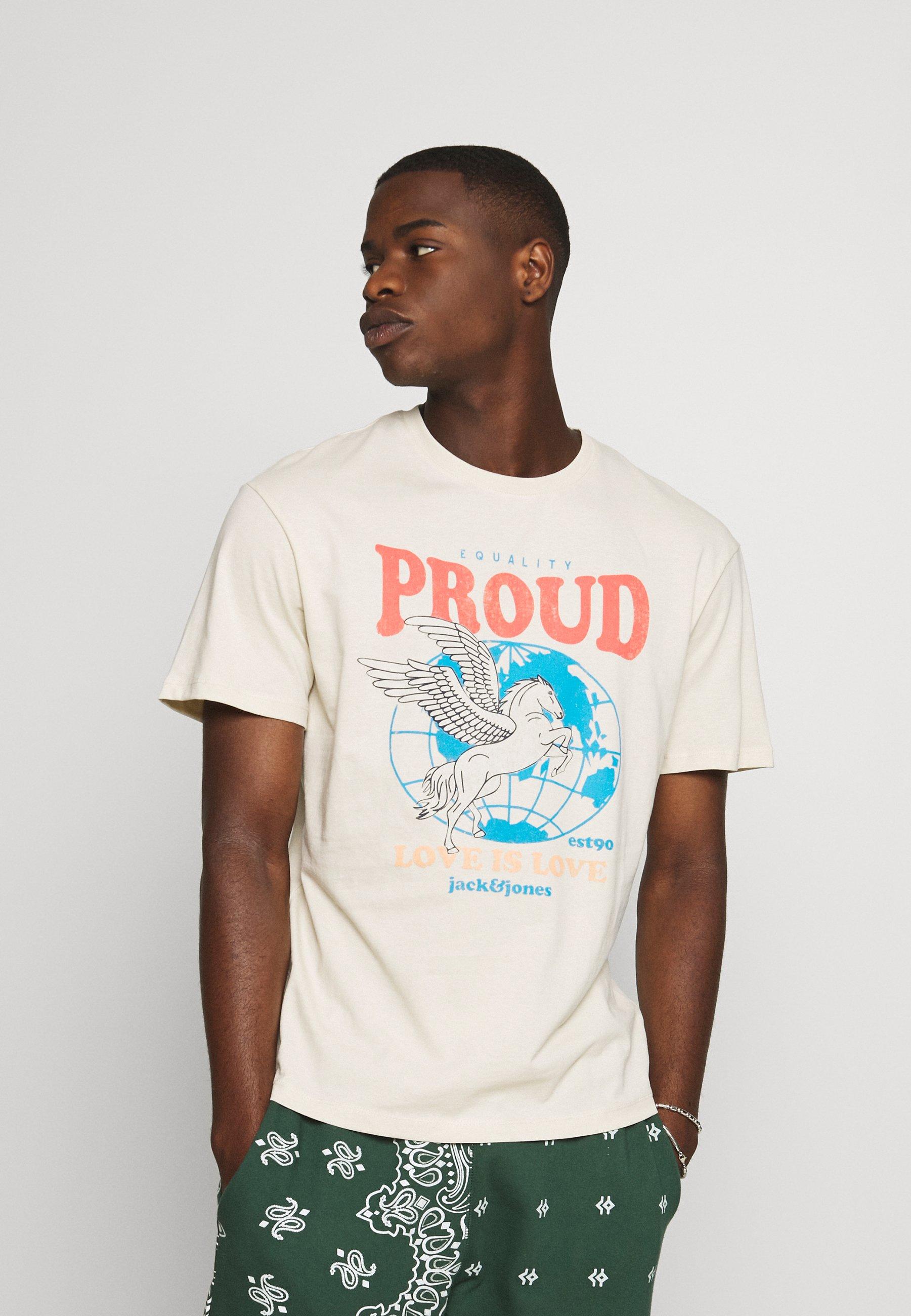 Men JORPROUD TEE CREW NECK UNISEX - Print T-shirt