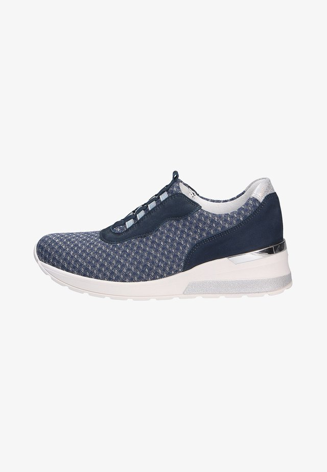 Sneakers laag - jeanssilber