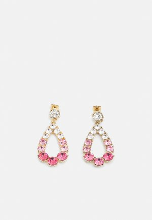 PCSARIA EARRINGS - Pendientes - gold-coloured/pink