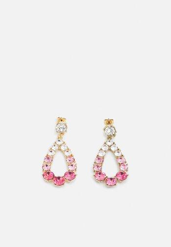PCSARIA EARRINGS - Earrings - gold-coloured/pink