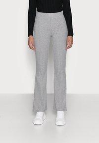 Gina Tricot Petite - TARA TROUSERS - Pantaloni - grey melange - 0