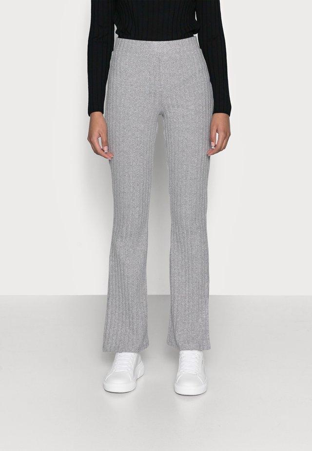 TARA TROUSERS - Pantalon classique - grey melange