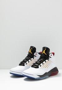 Jordan - MAXIN 200 - High-top trainers - white/dark sulfur/black/deep royal blue/gym red - 2
