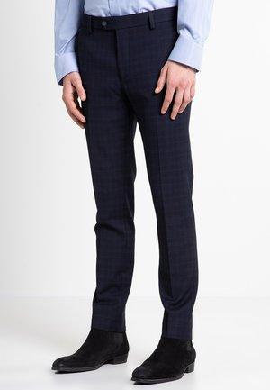 CHECK SUIT - Suit trousers - blue