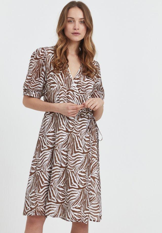 Sukienka letnia - brown animal printed