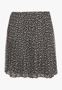 Hollister Co. - PLEATED SKIRT - A-line skirt - black - 1