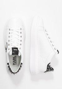 KARL LAGERFELD - KAPRI IKONIC STUD TAB - Sneakersy niskie - white/black - 3
