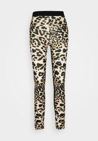 PANTALON - Leggings - Trousers - brown