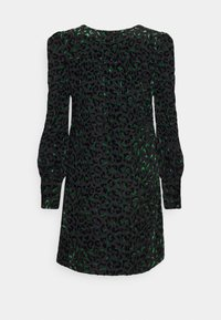 Milly - LYLAH LEOPARD DRESS - Cocktail dress / Party dress - black/green
