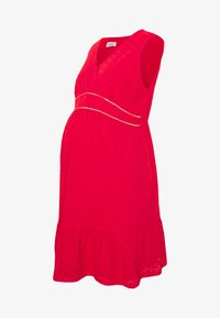 Balloon - DRESS WITHOUT SLEEVES WRAP NECKLINE - Žerzejové šaty - red - 4