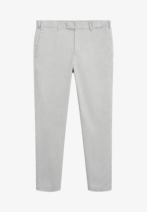 SLIM FIT-HOSE AUS TECHNISCHEM GEWEBE - Trousers - grau