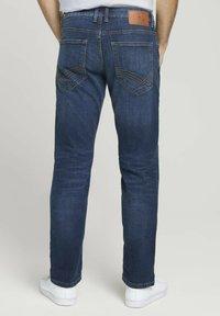 TOM TAILOR - TAVIS REGULAR  - Straight leg jeans - dark stone wash denim - 2